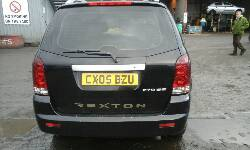 Breaking SSANGYONG REXTON, REXTON RX270 SE5 Secondhand Parts
